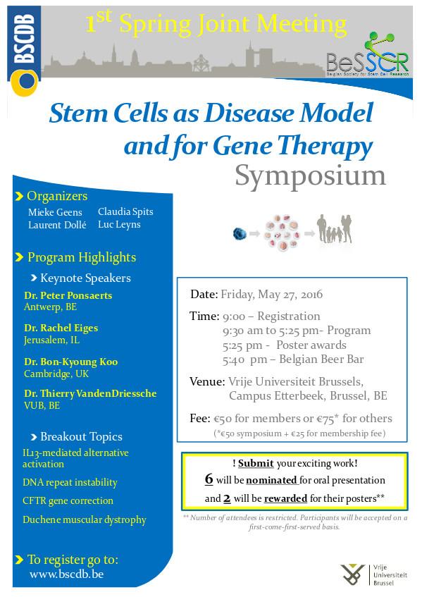 Belgian Society for Stem Cell Research (BeSSCR) | Stem Cell News